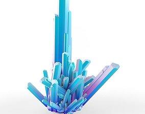 Crystal Emerald Gem 3D Model Quartz