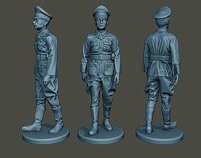 German Officer ww2 walk G5 3D print model