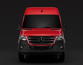 3D Mercedes Benz Sprinter Panel Van L3H2 RWD 2020