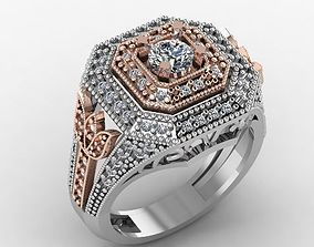 3D print model diamond fashion ring jewelry design