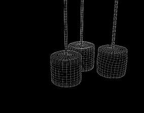 Marshmallow in a straw 3D model