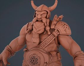 3D printable model Dwarf warrior knight