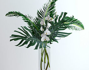 3D model Exotic bouquet