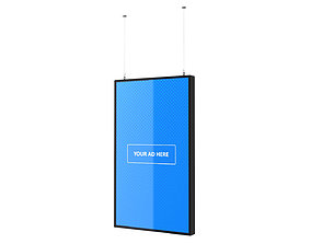 Digital Panel Vertical 43 Inch 3D model