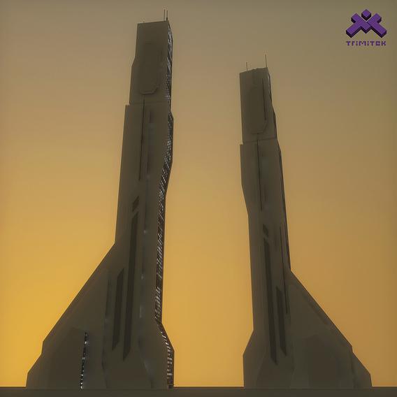 Futuristic Sci-Fi Skyscraper 04
