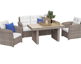 3D model Outdoor furnitures 03