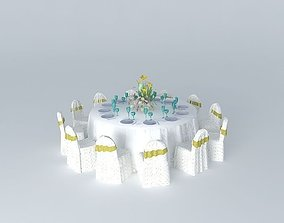 3D Feast table and chair