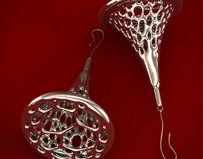 Voronoi Earrings 3D printable model