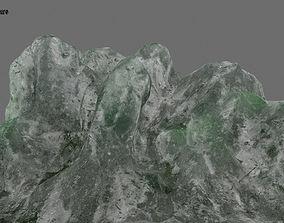3D asset low-poly Ice matt
