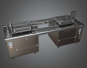 3D asset Large Industrial Deep Fryer KTC - PBR Game Ready