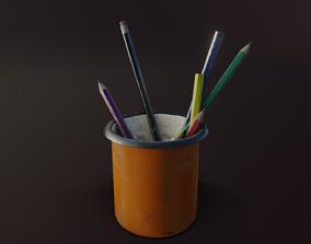 3D asset Old Pencil Holder