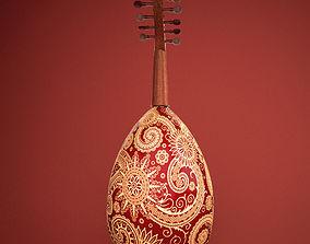 3D Arabic Oud instrument