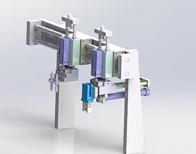 Gantry load and unload mechanism 3D model