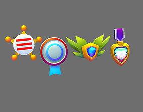 3D model Cartoon Children Medals