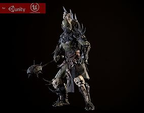 3D model animated Destroyer