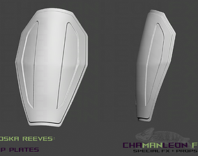Koska Reeves Hip Plate Armor The 3D printable model 1
