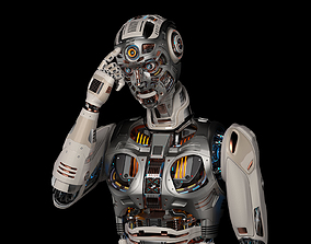 Robot Man 2 RIgged cybernetic 3D