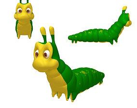 Caterpillar Cartoon 3D model nature