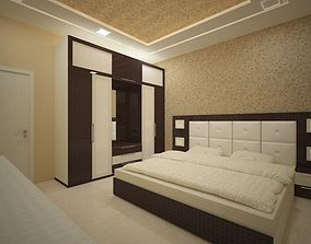 3D model Bedroom interior design by Vipin Verma