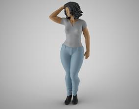 3D print model Woman City Mood