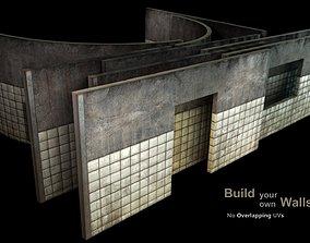 Wall - construction kit - set D 3D model