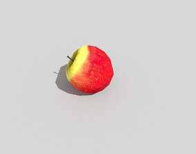 3D model low poly apple