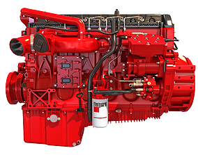 Cummins X12 Truck Engine 3D model