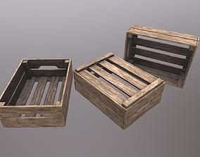 Wooden Crate V3 3D model