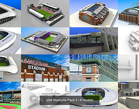 USA Stadiums Pack 5 3D model