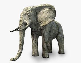 3D model Angkor stone elephant