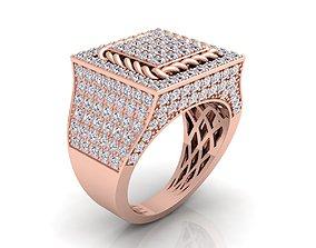 jewellery Big Fancy Mans Ring 3D printable model