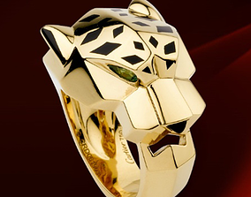 3D print model Cheetah style ring - jewelry