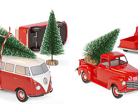 3D Christmas toy cars