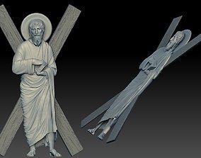 Saint Andrew Relief Set 3D religious