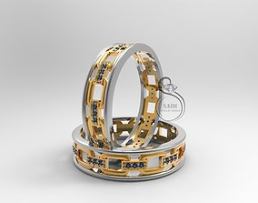 3D printable model Wedding ring links ring size 22mm