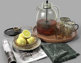 Tea set 01 3D model