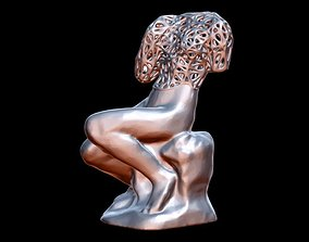 Sitting Woman 3D printable model