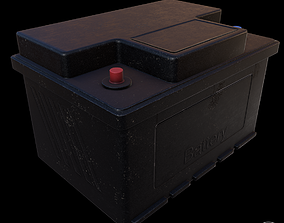 Realistic Car Battery PBR 3D model
