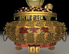 3D architectural Chinese Gold Ingot