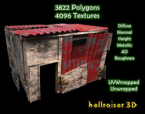 3D asset Shanty House - Textured Exterior and Interior