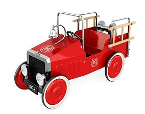 Vintage 1938 Red Toy Car 3D