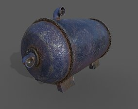 3D model Old water tank-01A