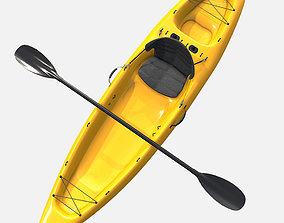 Low Poly PBR Kayak 3D asset