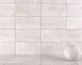 3D model Concrete wall tiles Concrea White 60x120