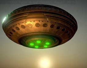 UFO Type 8 Animated and Game Ready 3D model game-ready