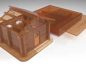 Plastic house prefabricated 3D printable model