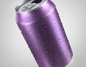 Can with Water Drops 3D