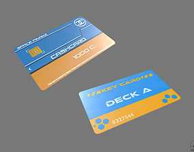 3D model Credit Card Key PBR Sci-Fi