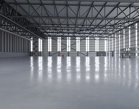 3D model Airplane Hangar Interior 2