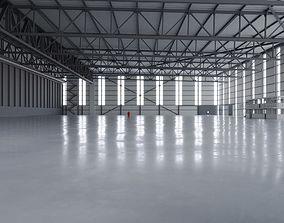 3D model low-poly Airplane Hangar Interior 2